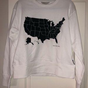 Calvin Klein United States Map Sweatshirt